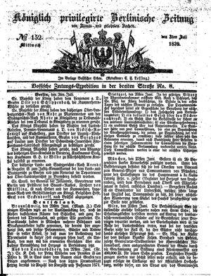 Königlich privilegirte Berlinische Zeitung von Staats- und gelehrten Sachen vom 03.07.1839