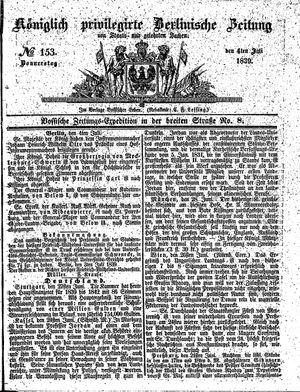 Königlich privilegirte Berlinische Zeitung von Staats- und gelehrten Sachen vom 04.07.1839
