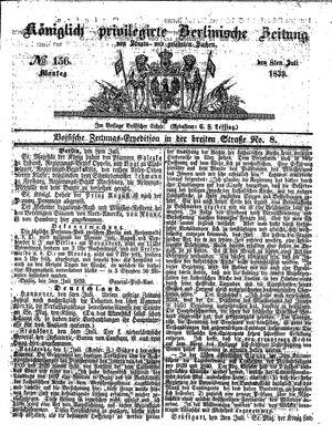 Königlich privilegirte Berlinische Zeitung von Staats- und gelehrten Sachen vom 08.07.1839