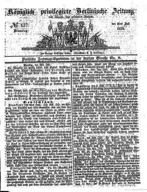Königlich privilegirte Berlinische Zeitung von Staats- und gelehrten Sachen on Jul 9, 1839