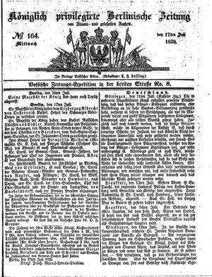 Königlich privilegirte Berlinische Zeitung von Staats- und gelehrten Sachen vom 17.07.1839