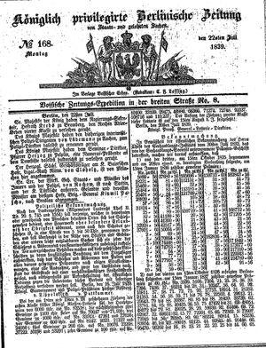 Königlich privilegirte Berlinische Zeitung von Staats- und gelehrten Sachen vom 22.07.1839
