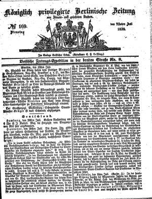 Königlich privilegirte Berlinische Zeitung von Staats- und gelehrten Sachen vom 23.07.1839