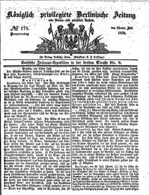 Königlich privilegirte Berlinische Zeitung von Staats- und gelehrten Sachen vom 25.07.1839