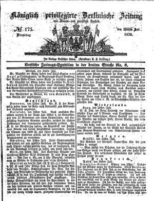 Königlich privilegirte Berlinische Zeitung von Staats- und gelehrten Sachen vom 30.07.1839