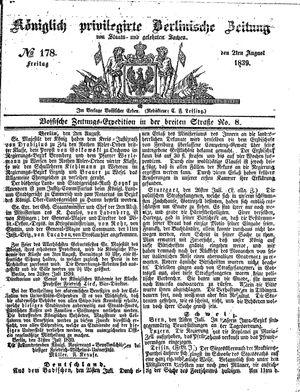 Königlich privilegirte Berlinische Zeitung von Staats- und gelehrten Sachen vom 02.08.1839