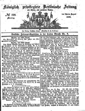Königlich privilegirte Berlinische Zeitung von Staats- und gelehrten Sachen vom 26.08.1839