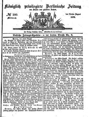 Königlich privilegirte Berlinische Zeitung von Staats- und gelehrten Sachen vom 28.08.1839