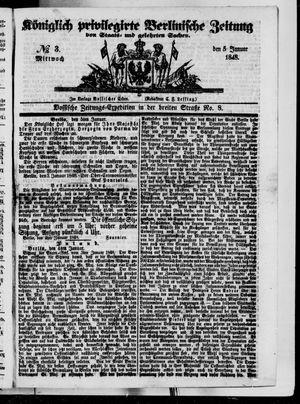 Königlich privilegirte Berlinische Zeitung von Staats- und gelehrten Sachen vom 05.01.1848