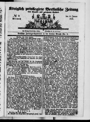 Königlich privilegirte Berlinische Zeitung von Staats- und gelehrten Sachen vom 12.01.1848