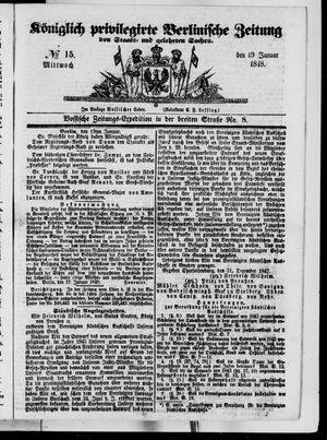 Königlich privilegirte Berlinische Zeitung von Staats- und gelehrten Sachen vom 19.01.1848