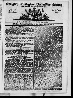 Königlich privilegirte Berlinische Zeitung von Staats- und gelehrten Sachen vom 22.01.1848