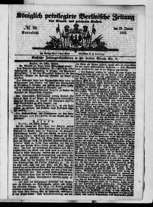Königlich privilegirte Berlinische Zeitung von Staats- und gelehrten Sachen vom 29.01.1848