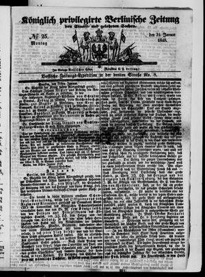 Königlich privilegirte Berlinische Zeitung von Staats- und gelehrten Sachen vom 31.01.1848