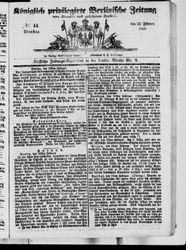 Königlich privilegirte Berlinische Zeitung von Staats- und gelehrten Sachen (22.02.1848)