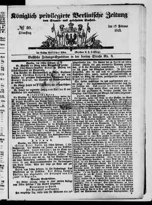 Königlich privilegirte Berlinische Zeitung von Staats- und gelehrten Sachen on Feb 29, 1848