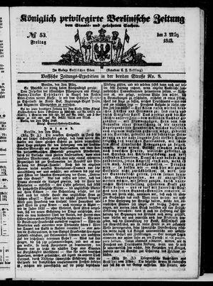 Königlich privilegirte Berlinische Zeitung von Staats- und gelehrten Sachen vom 03.03.1848