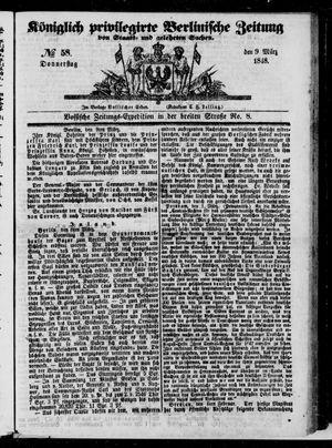 Königlich privilegirte Berlinische Zeitung von Staats- und gelehrten Sachen on Mar 9, 1848