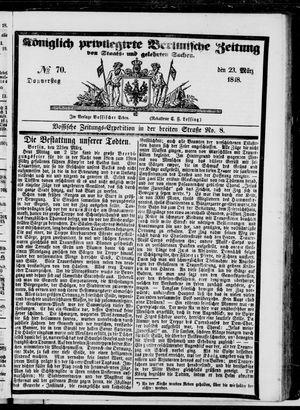 Königlich privilegirte Berlinische Zeitung von Staats- und gelehrten Sachen vom 23.03.1848