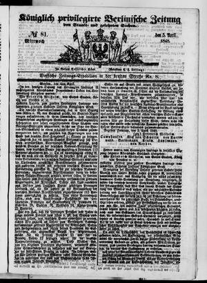 Königlich privilegirte Berlinische Zeitung von Staats- und gelehrten Sachen vom 05.04.1848