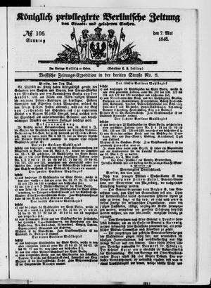 Königlich privilegirte Berlinische Zeitung von Staats- und gelehrten Sachen vom 07.05.1848
