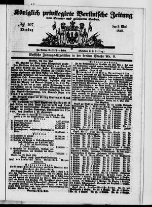 Königlich privilegirte Berlinische Zeitung von Staats- und gelehrten Sachen vom 09.05.1848