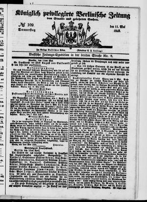 Königlich privilegirte Berlinische Zeitung von Staats- und gelehrten Sachen vom 11.05.1848