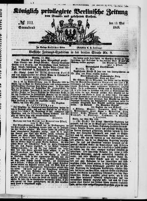 Königlich privilegirte Berlinische Zeitung von Staats- und gelehrten Sachen vom 13.05.1848