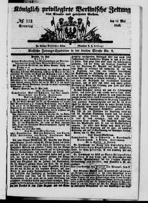 Königlich privilegirte Berlinische Zeitung von Staats- und gelehrten Sachen vom 14.05.1848