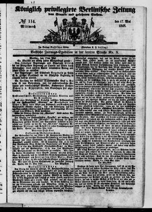 Königlich privilegirte Berlinische Zeitung von Staats- und gelehrten Sachen vom 17.05.1848