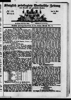 Königlich privilegirte Berlinische Zeitung von Staats- und gelehrten Sachen vom 24.05.1848