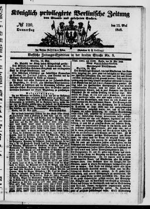Königlich privilegirte Berlinische Zeitung von Staats- und gelehrten Sachen vom 25.05.1848