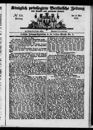Königlich privilegirte Berlinische Zeitung von Staats- und gelehrten Sachen vom 26.05.1848