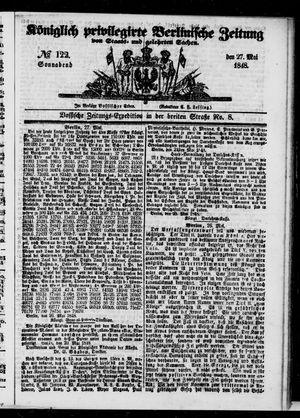 Königlich privilegirte Berlinische Zeitung von Staats- und gelehrten Sachen vom 27.05.1848