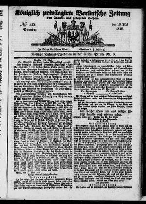 Königlich privilegirte Berlinische Zeitung von Staats- und gelehrten Sachen vom 28.05.1848
