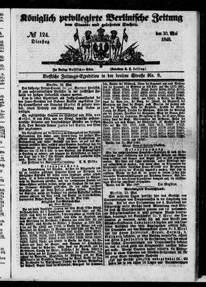 Königlich privilegirte Berlinische Zeitung von Staats- und gelehrten Sachen vom 30.05.1848