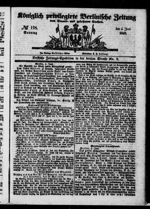 Königlich privilegirte Berlinische Zeitung von Staats- und gelehrten Sachen vom 04.06.1848