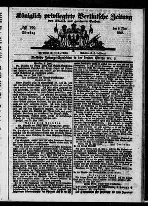 Königlich privilegirte Berlinische Zeitung von Staats- und gelehrten Sachen vom 06.06.1848