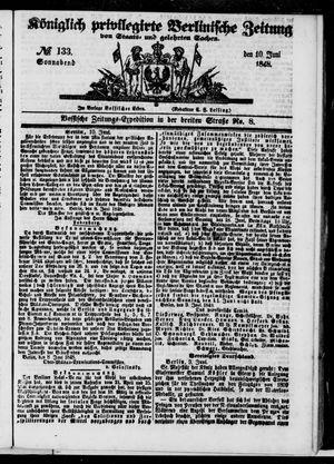 Königlich privilegirte Berlinische Zeitung von Staats- und gelehrten Sachen vom 10.06.1848