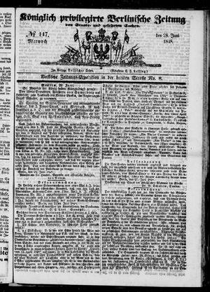 Königlich privilegirte Berlinische Zeitung von Staats- und gelehrten Sachen vom 28.06.1848