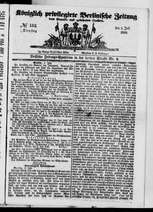 Königlich privilegirte Berlinische Zeitung von Staats- und gelehrten Sachen vom 04.07.1848