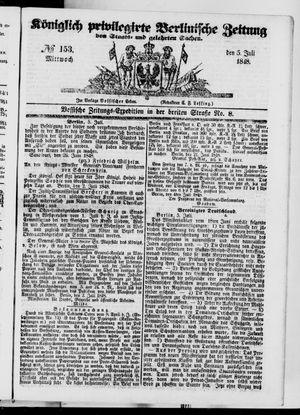 Königlich privilegirte Berlinische Zeitung von Staats- und gelehrten Sachen vom 05.07.1848
