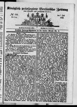 Königlich privilegirte Berlinische Zeitung von Staats- und gelehrten Sachen vom 07.07.1848