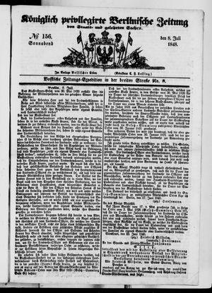 Königlich privilegirte Berlinische Zeitung von Staats- und gelehrten Sachen vom 08.07.1848