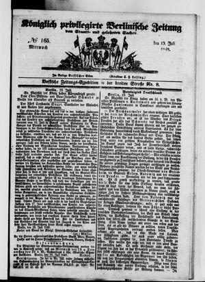 Königlich privilegirte Berlinische Zeitung von Staats- und gelehrten Sachen vom 19.07.1848