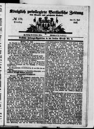 Königlich privilegirte Berlinische Zeitung von Staats- und gelehrten Sachen vom 25.07.1848