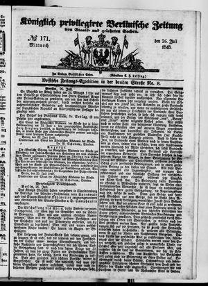 Königlich privilegirte Berlinische Zeitung von Staats- und gelehrten Sachen on Jul 26, 1848