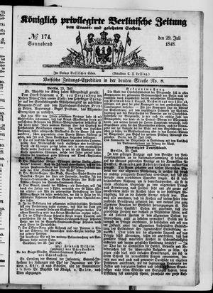 Königlich privilegirte Berlinische Zeitung von Staats- und gelehrten Sachen vom 29.07.1848