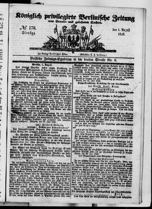 Königlich privilegirte Berlinische Zeitung von Staats- und gelehrten Sachen vom 01.08.1848