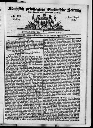 Königlich privilegirte Berlinische Zeitung von Staats- und gelehrten Sachen on Aug 4, 1848
